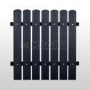 Sztachety plastikowe – ciemny brąz